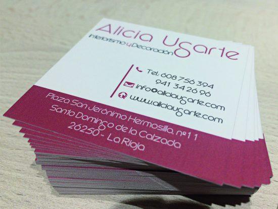tarjetas de visita alicia ugarte