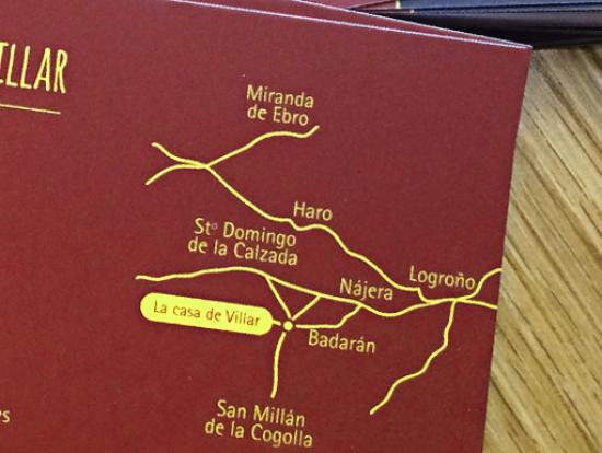 tarjeta de visita mapa