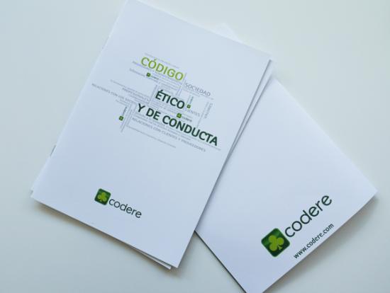folleto codere codigo etico y de conducta portada