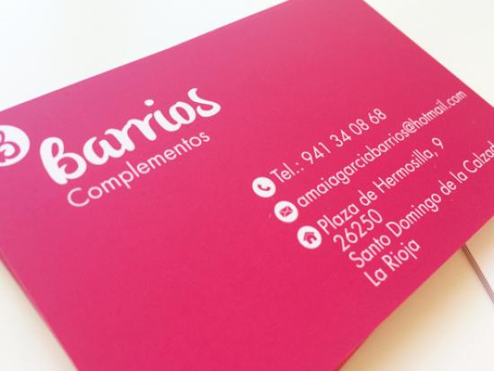 tarjeta de visita complementos Barrios
