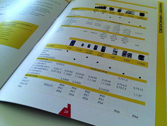 maquetacion tablas catalogo