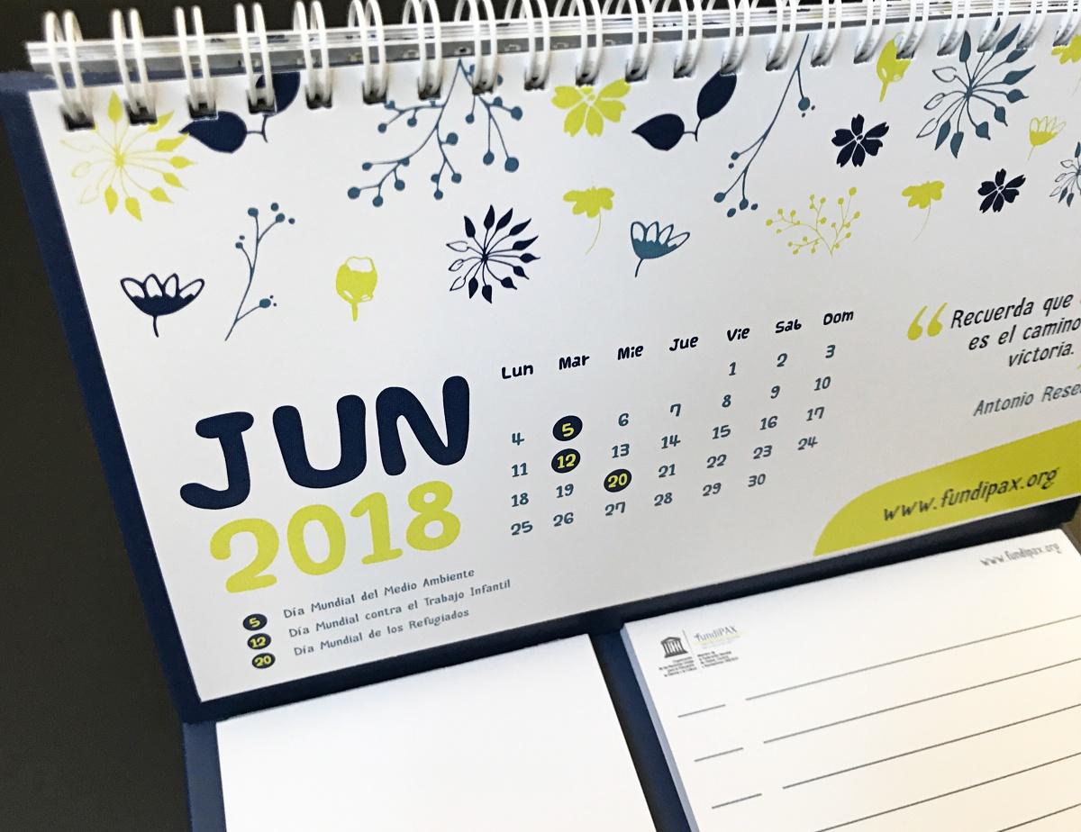 calendario personalizado fundipax