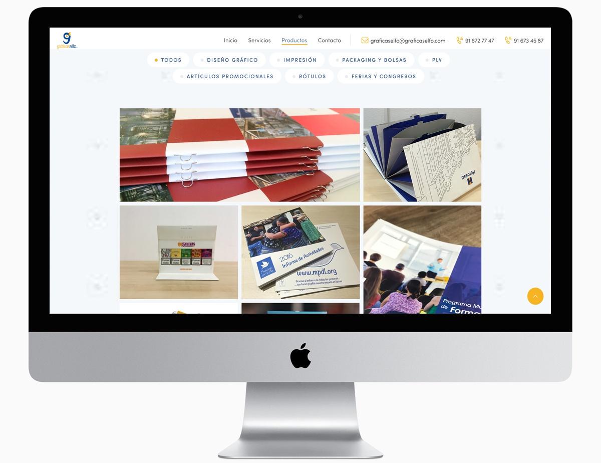 portfolio web. graficas elfo