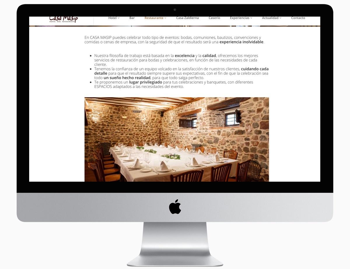 restaurante. web casa masip