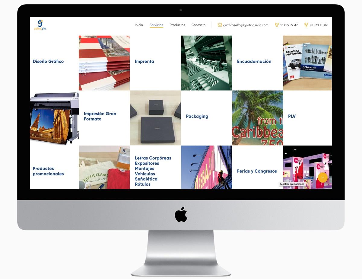 servicios imagenes web. graficas elfo