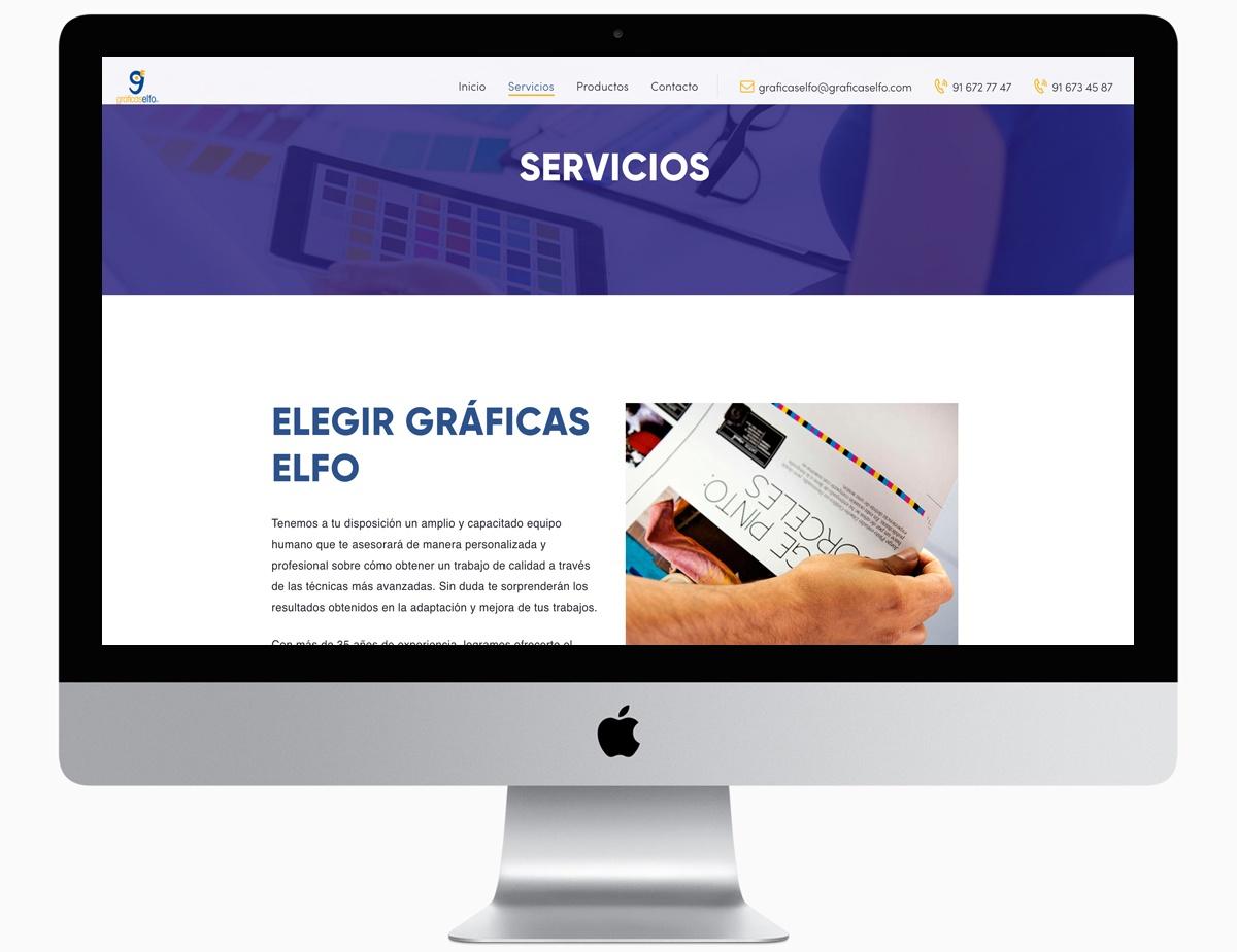 servicios web. graficas elfo