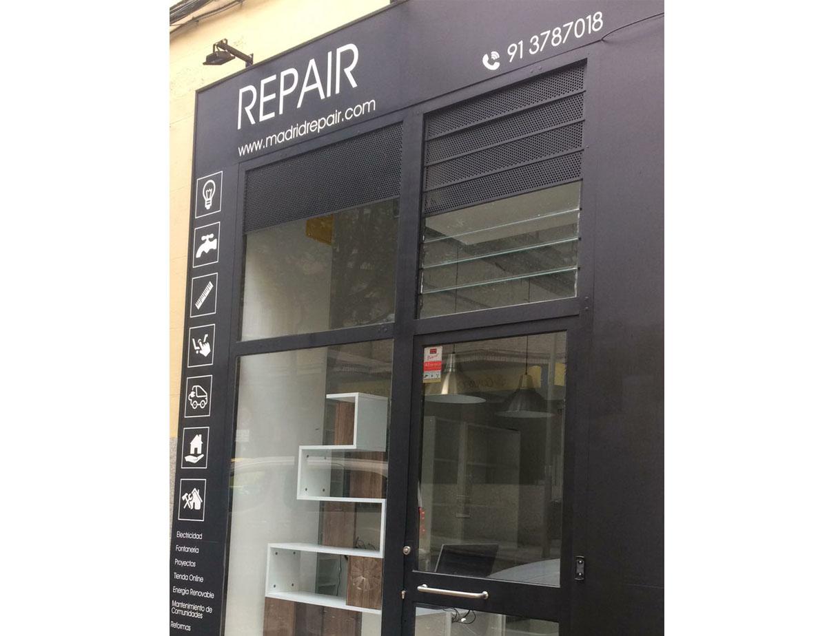 vinilos fachada tienda repair
