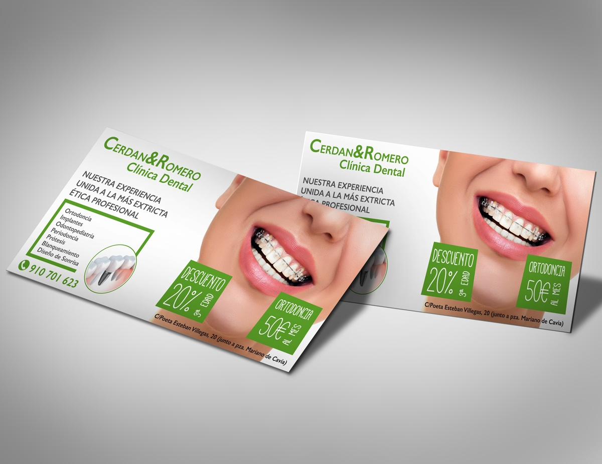 flyer clinica dental